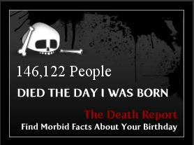 How many people died on your birthday?